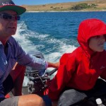 Andrew and me in the boat